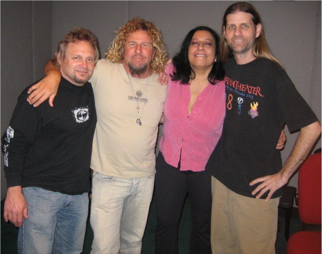 Donnie with Michael Anthony, Sammy Hagar, Tawn Mastery 3-13-06